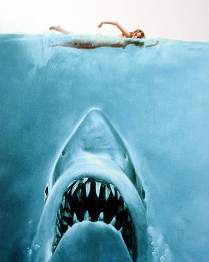 Jaws Movie Poster Art by Roger Kastel